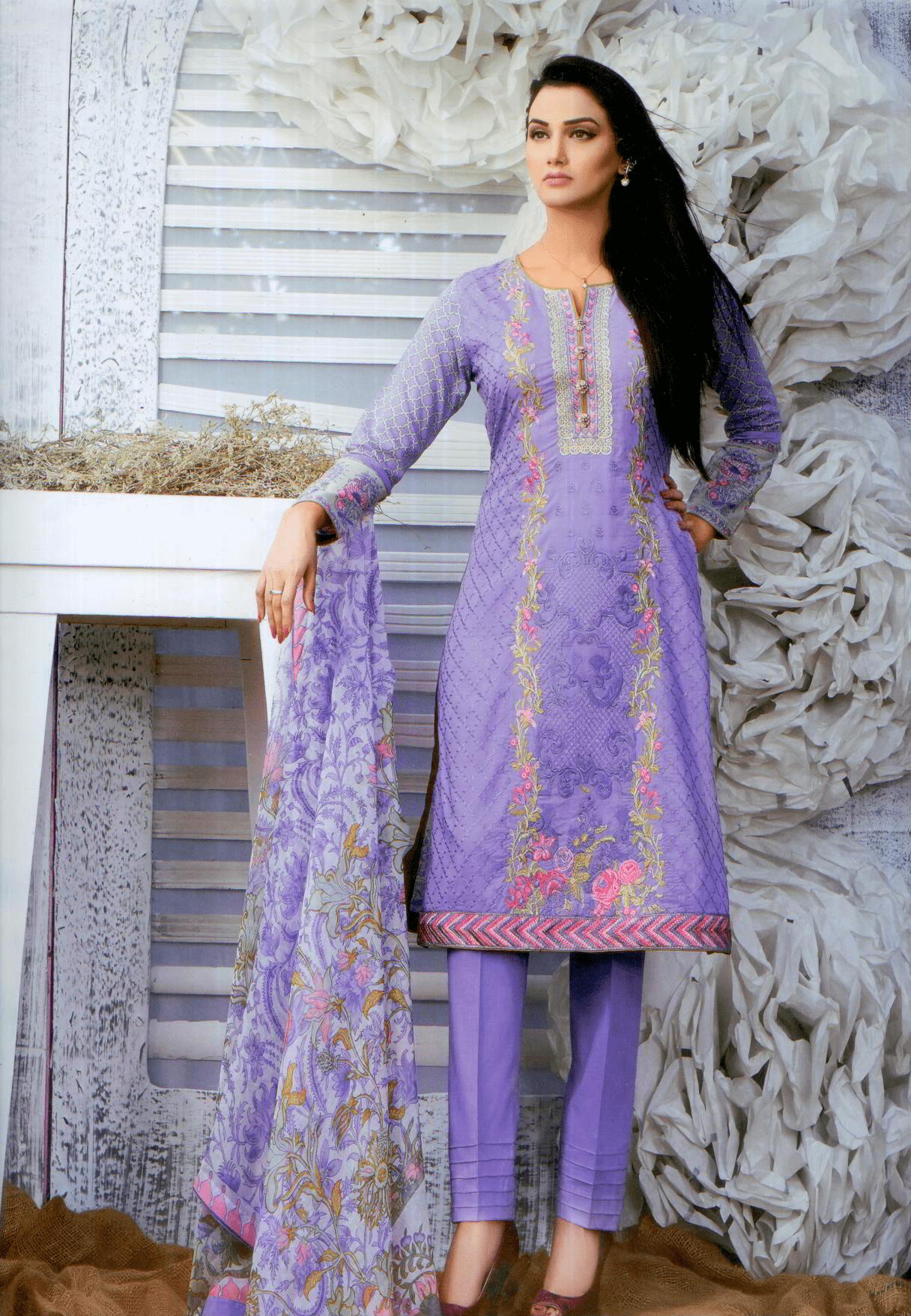Aliza wardrobe summer 17-Vol 1- Three piece chiffon suit-3738