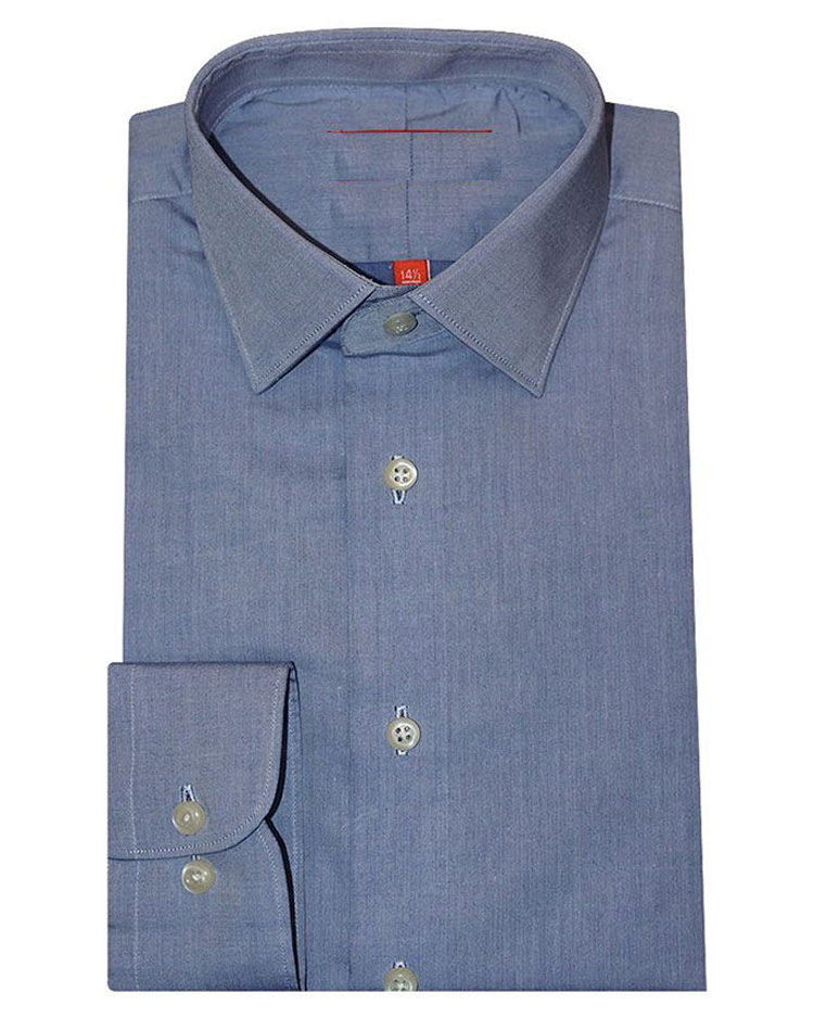 Cotton & Cotton Blue Solid Cotton Slim Fit Formal Shirt for Men
