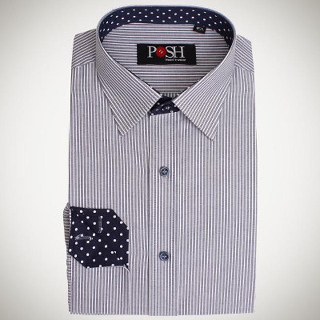 Grey Striped Shirt | CS0073