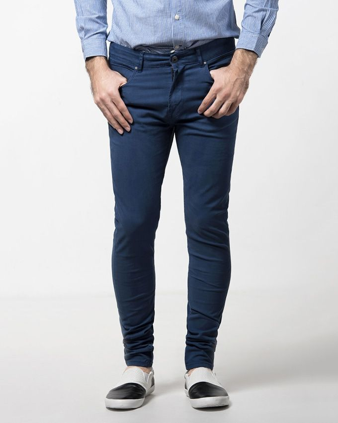 Outfitters-Tea-Blue-Cotton-Patch-Pockets-Pant-for-Men-2116.html