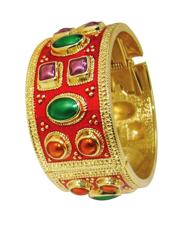Metal Beeds Bracelet for Women - Red