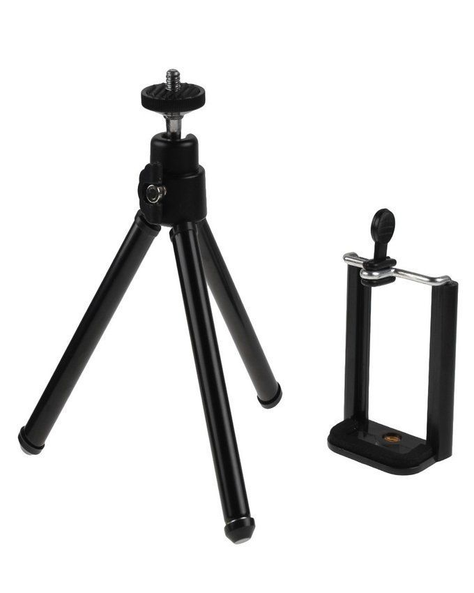 iGeek Mini Tripod with Mobile Phone Holder - Black