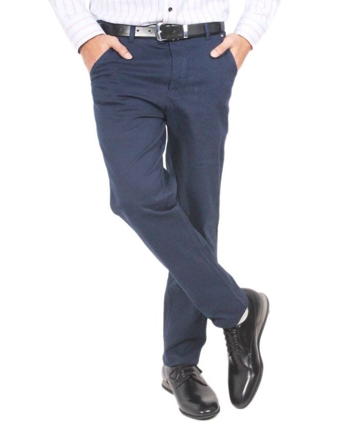 Navy Blue Stylish Chinos For Men