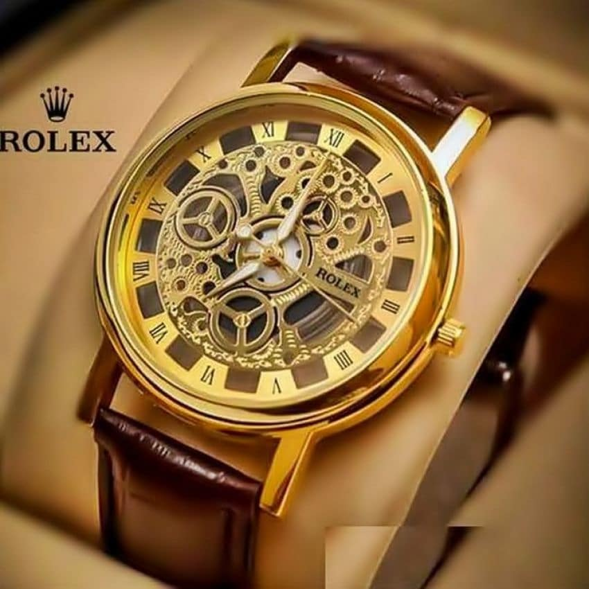 Rolex Skeleton Golden Watch Automatic