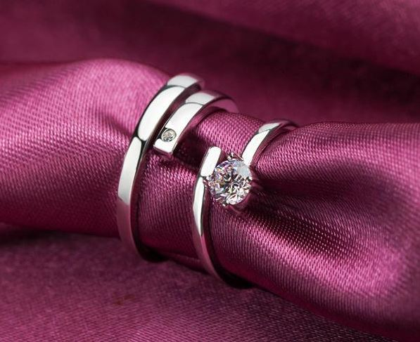 Diamond Couple Platinum Ring