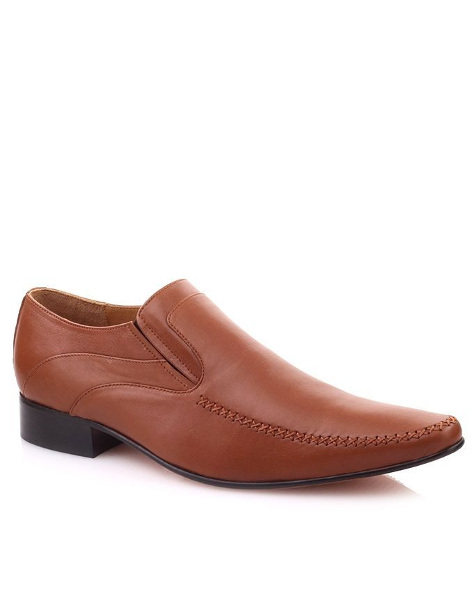 Brown Leather Grenny Formal Dress Shoes for Men
