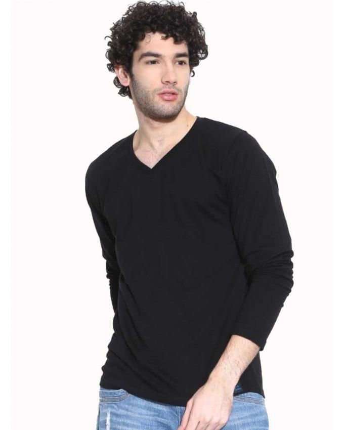 Black Cotton T-Shirt For Men
