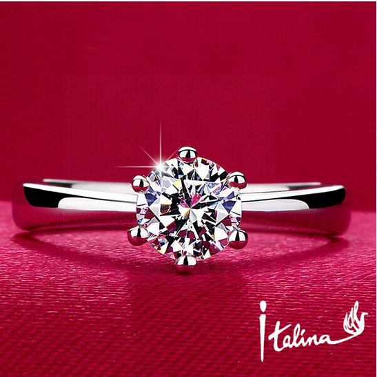 1Carat Silver Diamond Ring