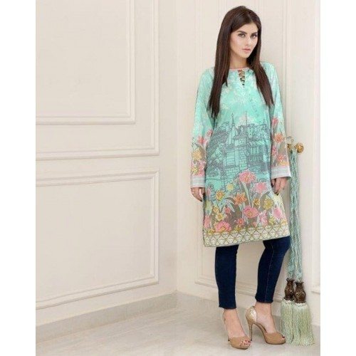 Lala Wild Lime Sana & Samia Kurti Collection