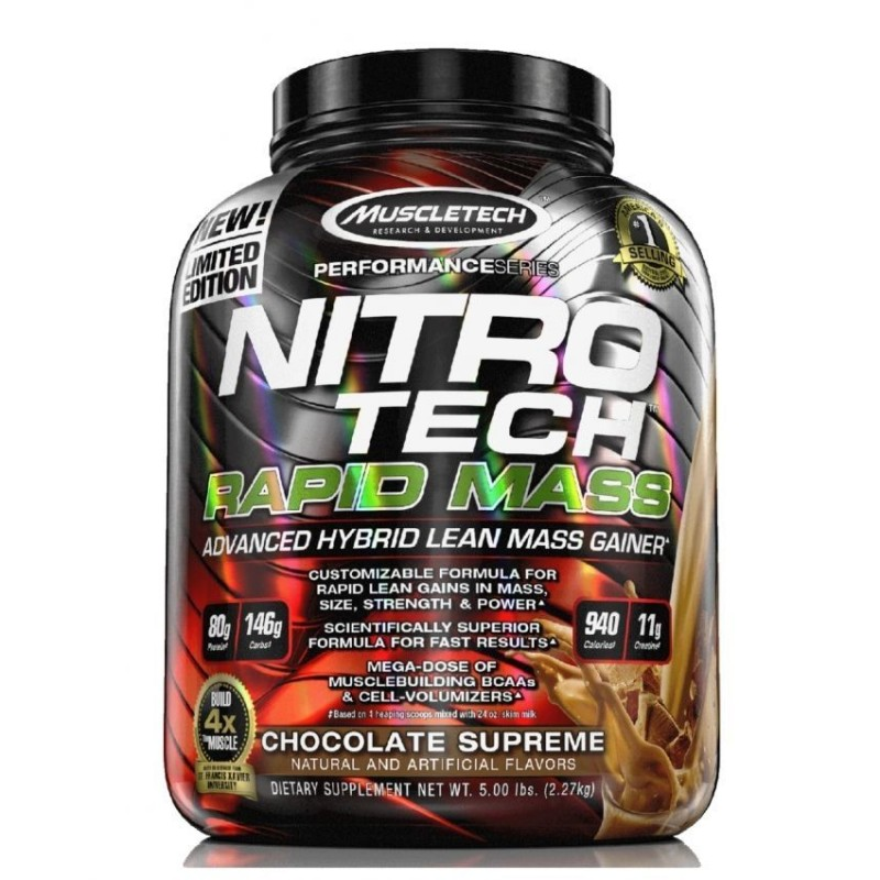 Muscle Tech NitroTech Rapid Mass - 5 Lbs - Chocola
